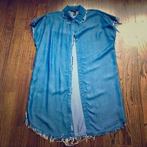 Forever 21 distressed tunic